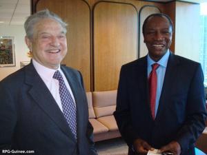 Alpha Condé et Georges Soros