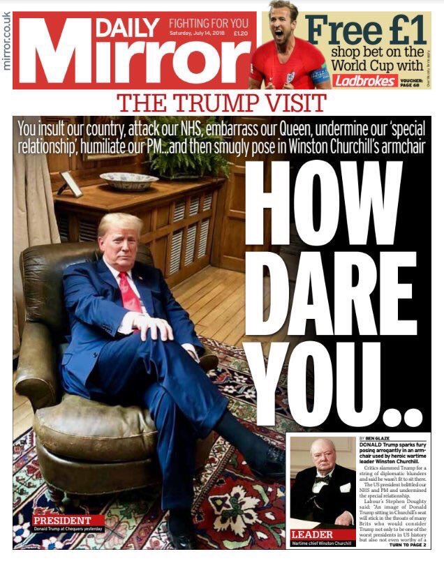DR Une du Daily Mirror