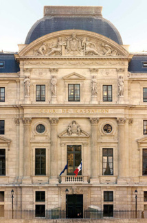 Le fronton de la Cour de Cassation - Crédit photo : Erasoft24