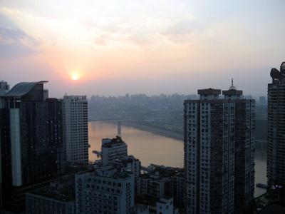 Vue de la ville de Chongqing - Crédit Photo : Yu Hui