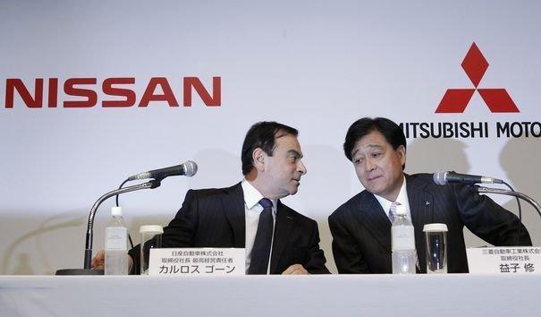 Carlos Ghosn et Osamu Masuko. DR Reuters