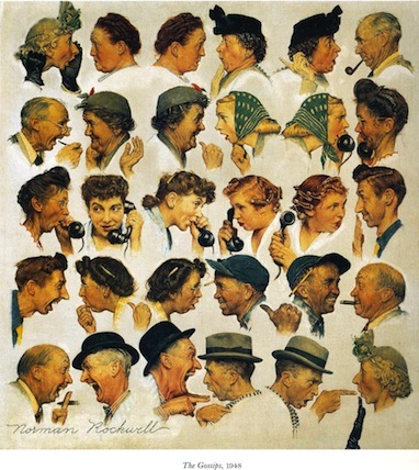 Norman Rockwell - The Gossips