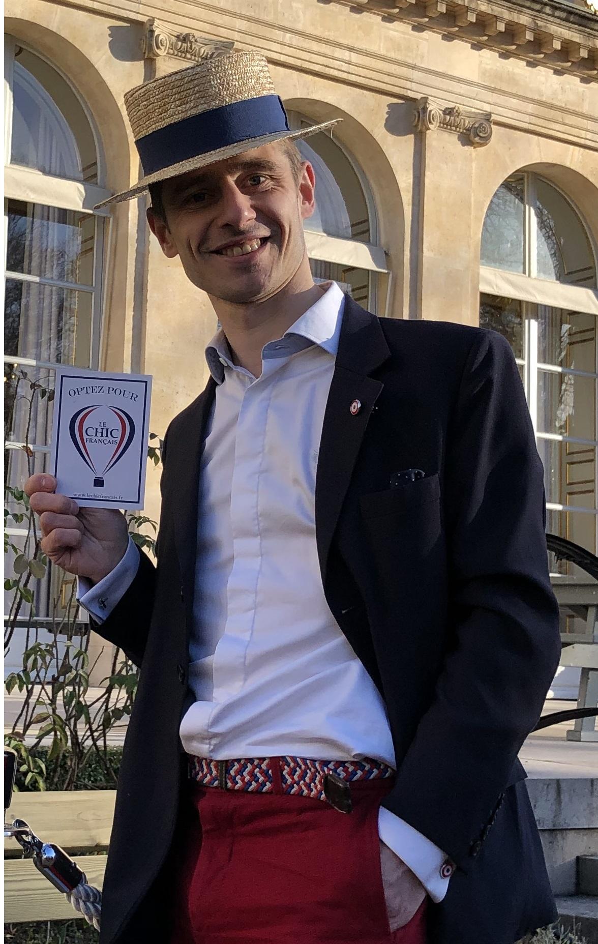 """Christophe de Villeblanche, fondateur et patron de la marque """"Le Chic Français"""""""