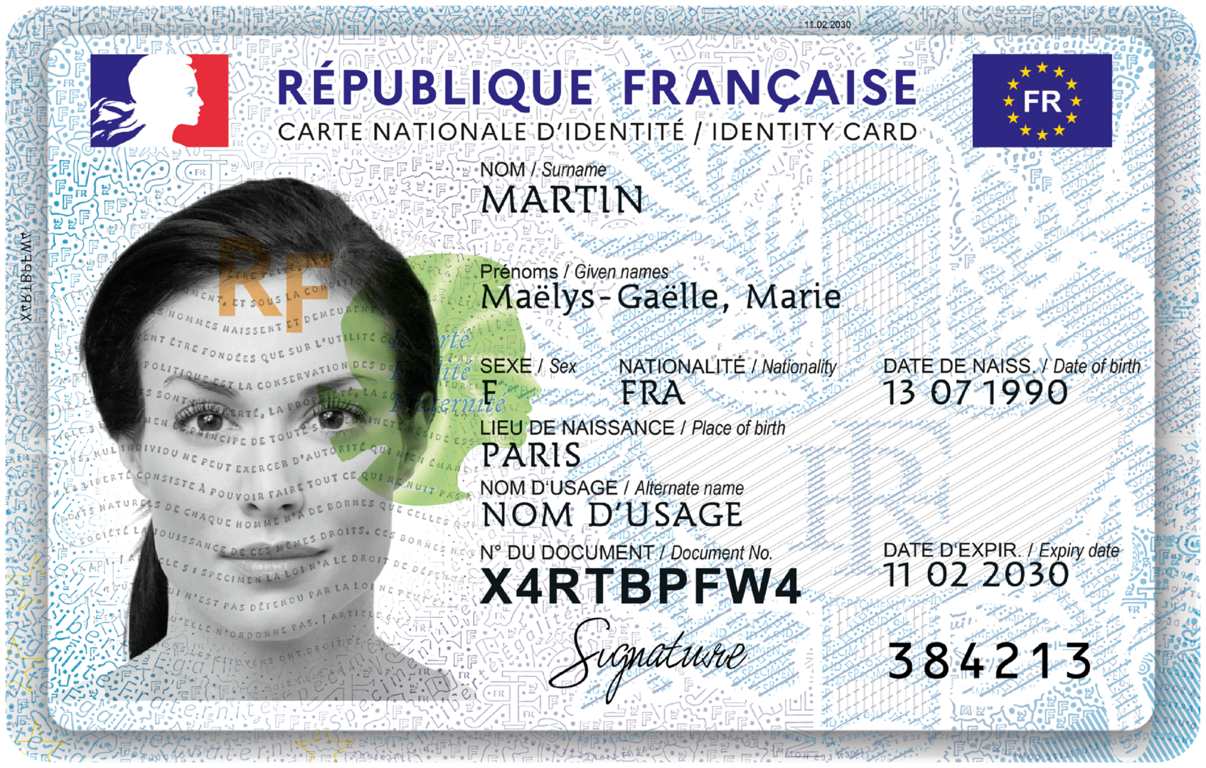 Dès le 2 août, la nouvelle carte d'identité est disponible partout en France