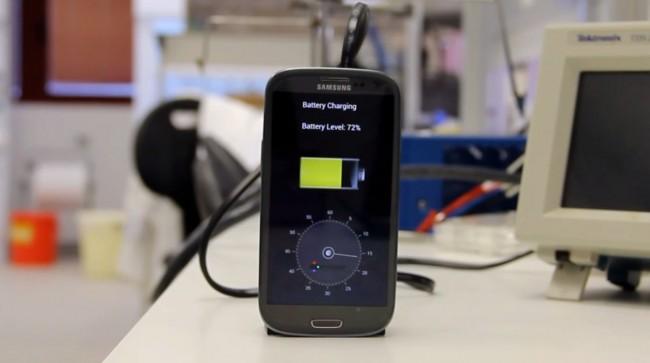 Un chargeur écologique permet de recharger un téléphone en 30 secondes