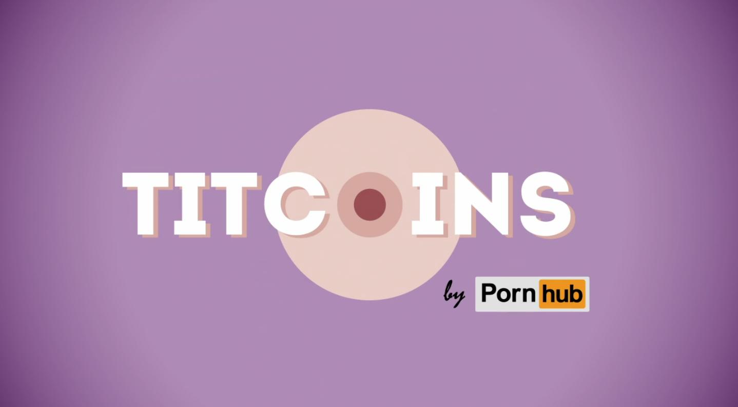 """Capture d'écran vidéo """"Titcoins by Pornhub"""""""