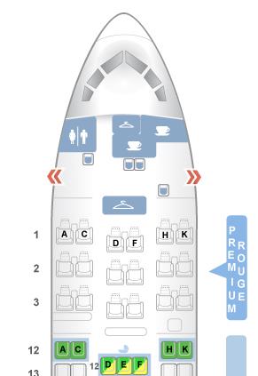 Choisir la meilleure place en avion