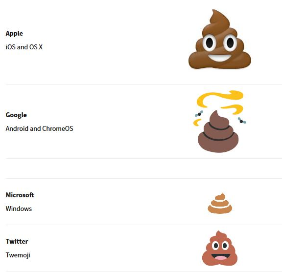 Entre Microsoft et Apple, la guerre de l'emoji caca