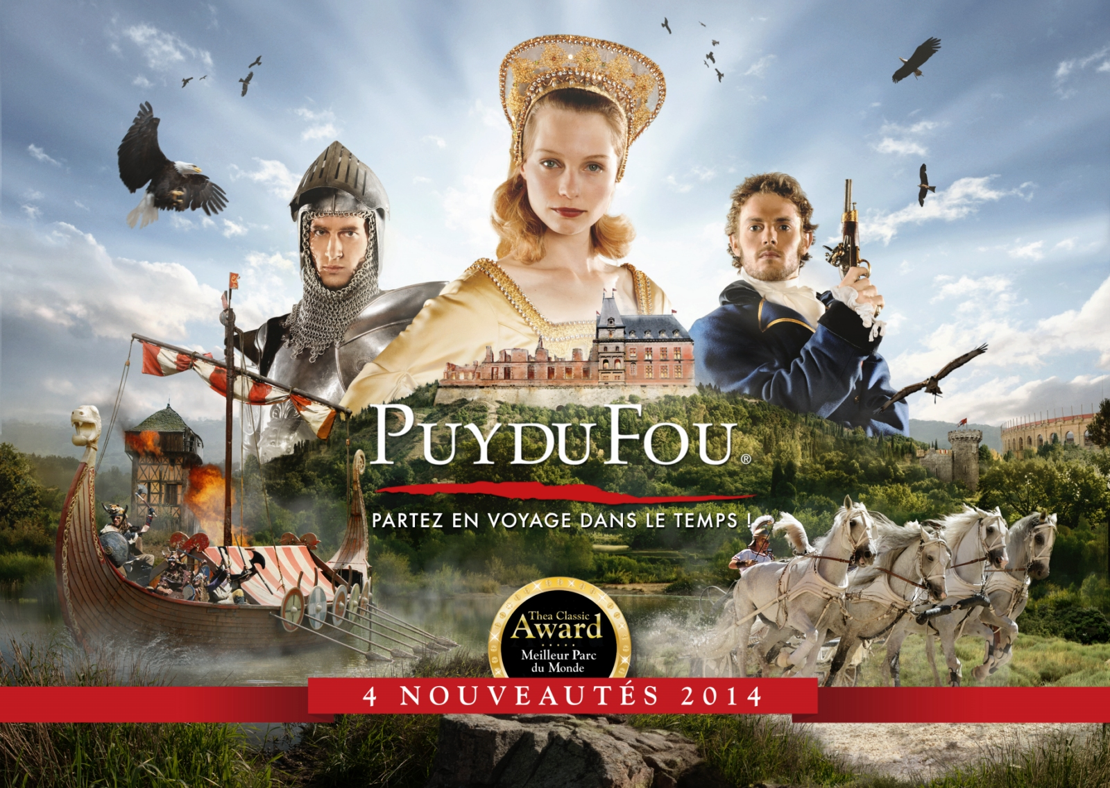Parcs d'attraction, le Puy du Fou premier français