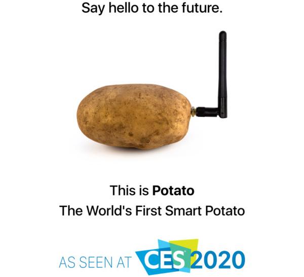 Avec une « pomme de terre connectée », il s'incruste au CES de Vegas
