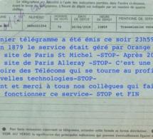 Le dernier télégramme de l'histoire française vient d'être envoyé