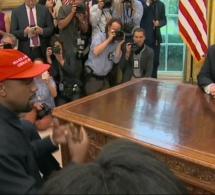 Kanye West et Donald Trump, instant lunaire à la Maison Blanche