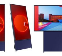 Samsung propose une télévision verticale, qui s'adapte au format téléphone