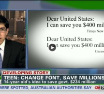 Un adolescent américain sait comment l'Etat américain peut économiser 400 millions de dollars